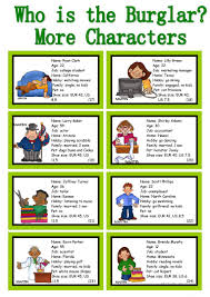 Who Is Who Is The Burglar 30 Conversation Cards Class And