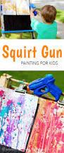 gun painting amazing summer art for kids