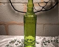 green glass bottle etsy