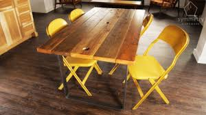 wood table with metal legs what is the best way to attach metal legs to wood table top