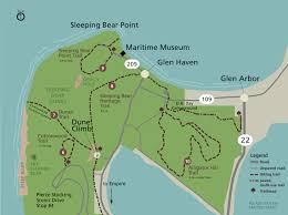 Michigan Lighthouses Map by Dunes Trail To Lake Mi Sleeping Bear Dunes National Lakeshore
