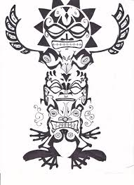 totem pole by allua808 on deviantart