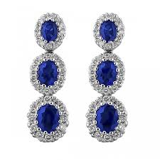 dimond drop morton rudolph blue sapphire and diamond drop earrings