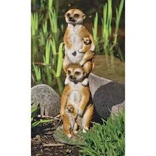 design toscano meerkat generations garden statue reviews wayfair