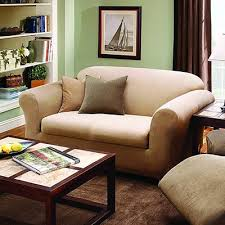 Loveseat Slipcovers With Two Cushions Sure Fit Stretch Stripe Box Cushion Loveseat Slipcover U0026 Reviews