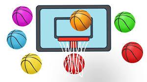 learn colors for children with basketballs color basket balls