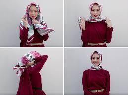 tutorial hijab resmi cantik ke acara formal dengan tutorial hijab ala laudya cynthia bella