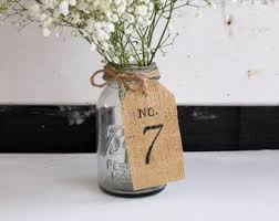 Rustic Center Pieces Wedding Table Numbers Rustic Burlap Woodland Tags Table
