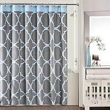 Blue Grey Curtains Studio 3b Fret Shower Curtain In Grey Blue Home