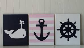 baby nautical nursery decor whale nursery painting anchor