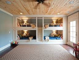 Bunk Beds Built Into Wall Rustic Built In Bunk Beds Traditional With Built In Beds Bunk