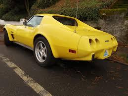 1976 corvette yellow seattle s parked cars 1976 chevrolet corvette stingray