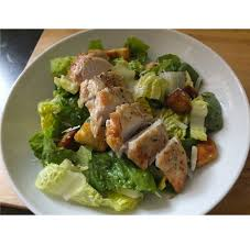 homemade grilled chicken caesar salad using original dressing