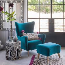 Turquoise Chairs Leather Furniture Wingback Chair Wingback Chair Tufted Wing Chair