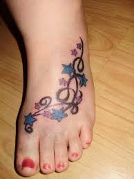 25 cool star tattoos on foot slodive