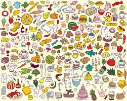 big food and kitchen collection royalty free cliparts vectors