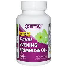 Evening Primrose Oil For Hair Loss Deva Vegan Premium Evening Primrose Oil 90 Vegan Caps Iherb Com