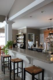 breakfast bar different ceiling heights for the home