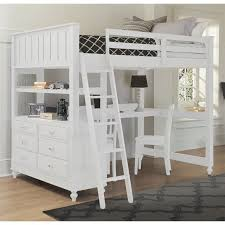 Wood Loft Bed With Desk - White bunk beds with desk