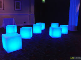 illuminated furniture rechargeable led cube with color change remote