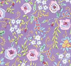 Purple Floral Curtains Nursery Curtains Caden