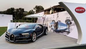 si e auto pebble bugatti chiron officially presented at us the quail auto event