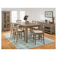 5 piece slater mill counter height dining set with ladderback