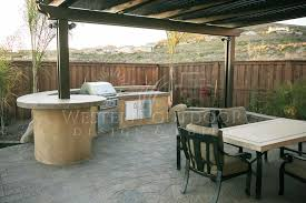 Bbq Patio Designs Patio Barbeque Island Outdoor Lifestyle Alumawood Lattice