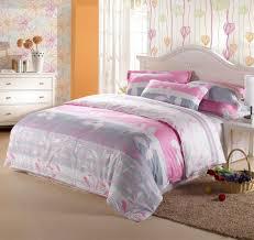 kids room elegant floral bedding set with grey pink