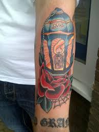 lantern rose tattoo by ryanutopiatattoo on deviantart