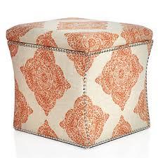 storage ottoman mani terracotta ottomans living room