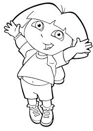coloring pages girls dora explorer cartoon coloring