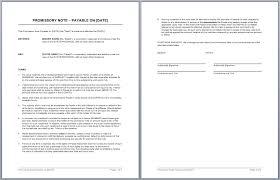 promissory note template u2013 microsoft word templates