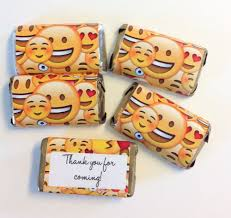 Free Printable Halloween Candy Bar Wrappers by 50 Emoji Smiley Faces Personalized Mini Candy Bar Wrappers Party