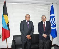 Flag Of Antigua Ambassador Dwight Gardiner Of Antigua And Barbuda Presents