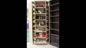 Shoe Closet With Doors Spinning Closet System By The Revolving Closet Organizer A