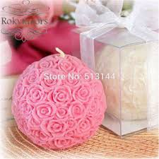 candle favors free shipping 50pcs pink white 7cm candle wedding