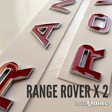 chrome letters exterior styling ebay