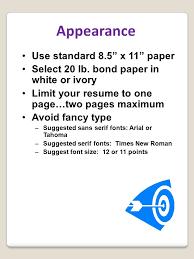 Resume Bond Paper