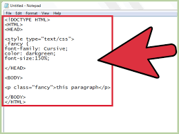 how to use font color tags in html with sample html wikihow