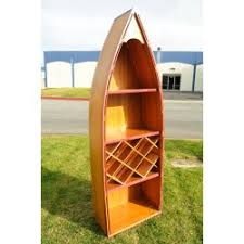 Canoe Bookcase Furniture Handcrafted Canoe Wine Shelf
