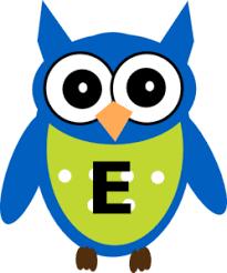 e blue owl e clip art at clker com vector clip art online royalty