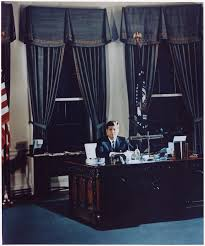 White House Oval Office Desk File Portrait Of President Kennedy At His Desk White House Oval