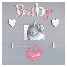 cadre chambre bébé fille pêle mêle 5 vues personnalisable fille baby cadres photos pêle
