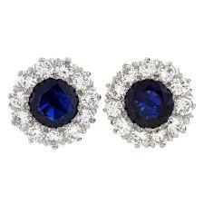 earrings for sale and co deco burma sapphire diamond platinum earrings