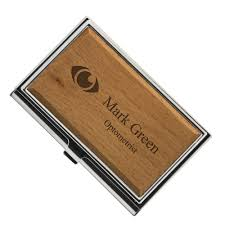 wooden personalized gifts personalized wood business card holder