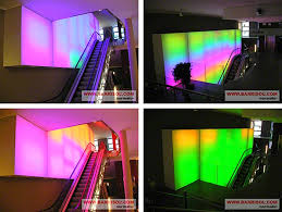 color changing wall lights with change wall paint color by app l