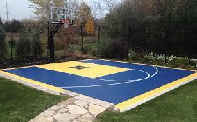 Backyard Pool And Basketball Court Building Backyard Basketball Courts Backyard Landscape Design