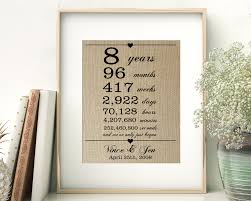 2nd anniversary traditional gift eighth wedding anniversary traditional gift gift ideas
