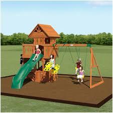 backyards ergonomic backyard swing traditional kids playset 5